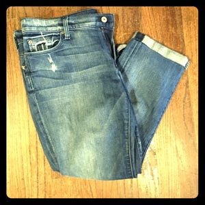 7 for all mankind crop straight leg size 32